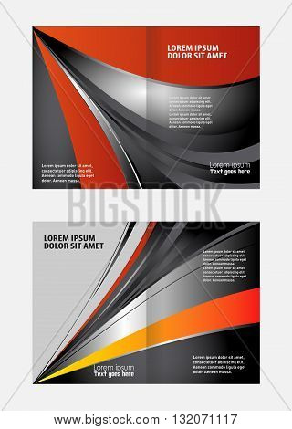 Professional business brochure design. Professional business flyer, corporate brochure design template