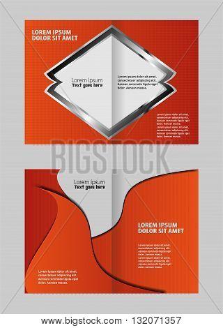 brochure template. bi-fold brochure template design, business leaflet, booklet