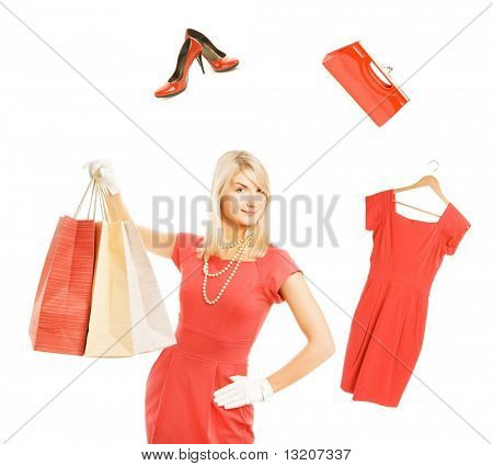 Beautiful young woman ready for shopping