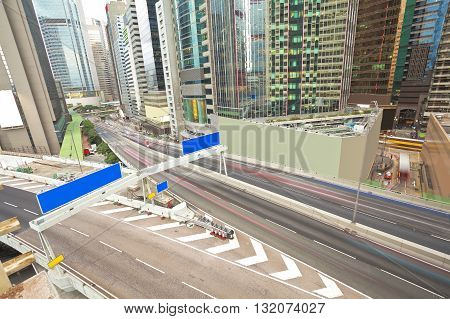 Overlooking The City Road Traffic Buildings Scenery Of Hongkong