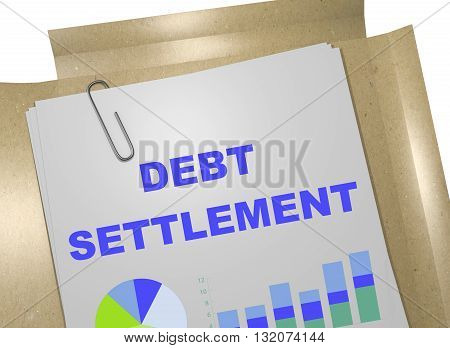Debt Settlement Business Concept