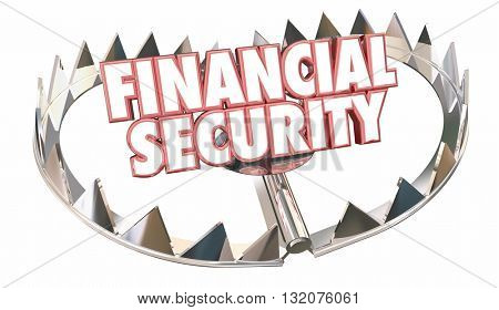Financial Security Bear Trap Protect Wealth Words 3d Illustration