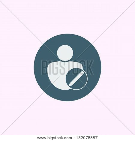 User Edit Icon In Vector Format. Premium Quality User Edit Symbol. Web Graphic User Edit Sign On Blu