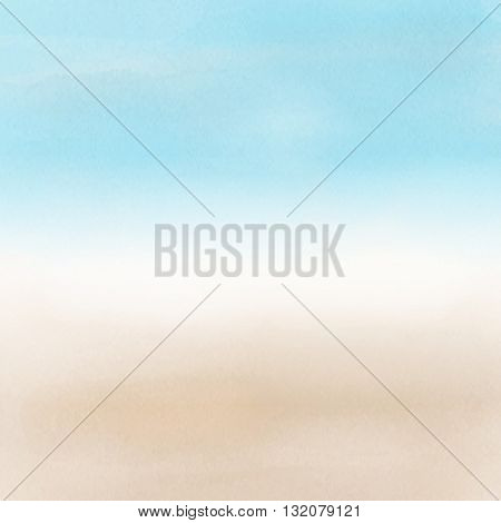 Abstract beach landscape with a watercolor effect