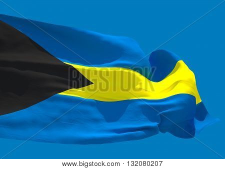 Bahamas wave flag HD Commonwealth of the Bahamas