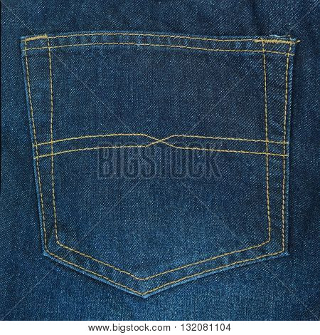 Bellow Pocket of Long trousers jeans as background