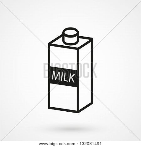 Milk Icon Vector Black On White Background