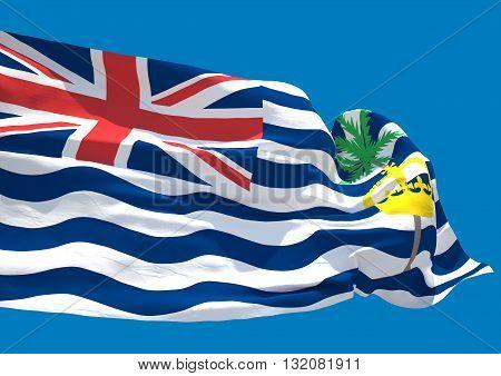 British indian ocean territories wave flag HD