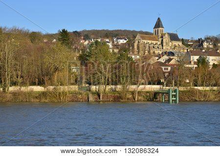 Triel sur Seine France  the gothic and renaissance Saint Martin church