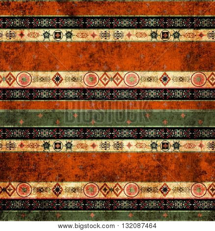 Ethnic boho grunge pattern. Tribal old art print. Colorful background.