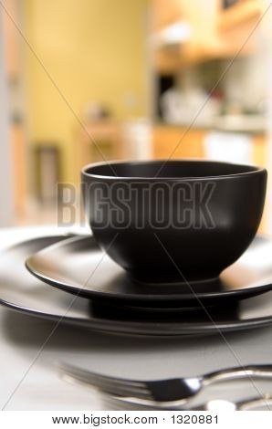 Black Dinnerware Setting