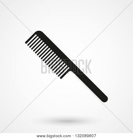 Comb Icon Vector Black On White Background