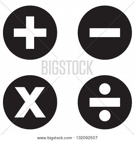 Math Symbols Icon subtraction computer icon flat