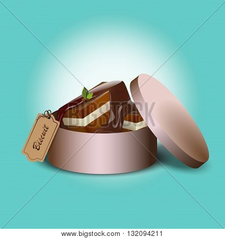 Vector illustration of a chocolate candy wrapper and without.