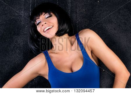 Smiling Happy Girl Posing.
