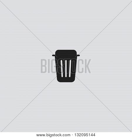 Trash bin Icon Vector. Trash bin logo. Trash bin  Sign.