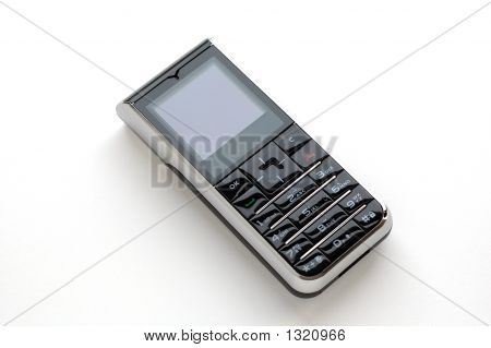 Modern Mobile Phone With White Background