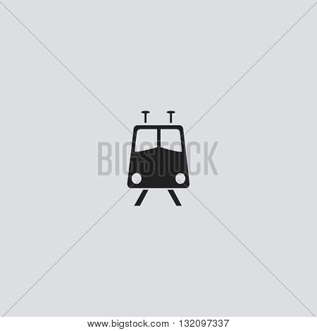 Train Icon Vector. Train logo. Train  Sign.