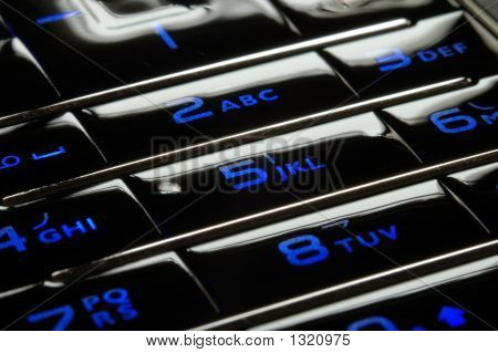 Blue Mobile Keypad Under Dark