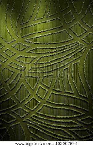 GREEN, ABSTRACT MODERN RAISED PATTERN ON PAPER , HIGHLIGHTED COLORFUL LUXURY BACKGROUND