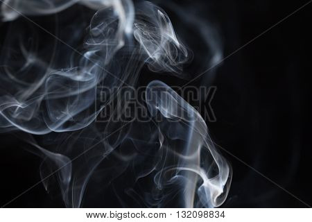 Cloud of smoke on a black background