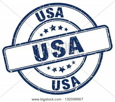 usa blue grunge round vintage rubber stamp.usa stamp.usa round stamp.usa grunge stamp.usa.usa vintage stamp.