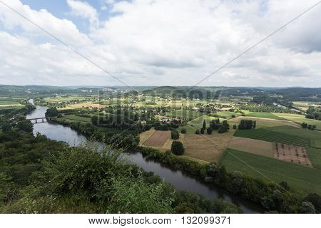 France's Dordogne river flows through the countryside