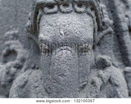 Head of The Ganesha Statue 8th - 10th century