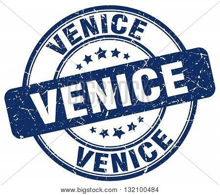 Venice blue grunge round vintage rubber stamp.Venice stamp.Venice round stamp.Venice grunge stamp.Venice.Venice vintage stamp.