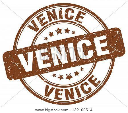 Venice brown grunge round vintage rubber stamp.Venice stamp.Venice round stamp.Venice grunge stamp.Venice.Venice vintage stamp.