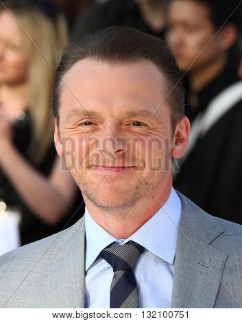 LONDON, UK - MAY  2, 2013: Simon Pegg seen at the UK Premiere of Star Trek Into Darkness at The Empire Cinema picture taken from a public area