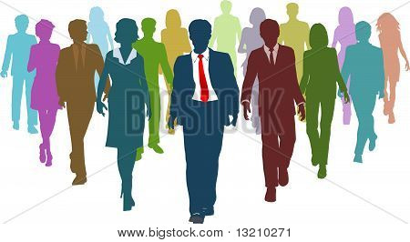 Business Eople Diverse Human Resources Team Leader