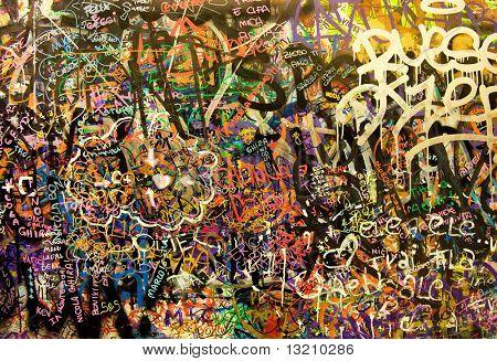 Fundo de graffiti