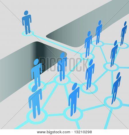 People Groups Bridge Join Network Merger