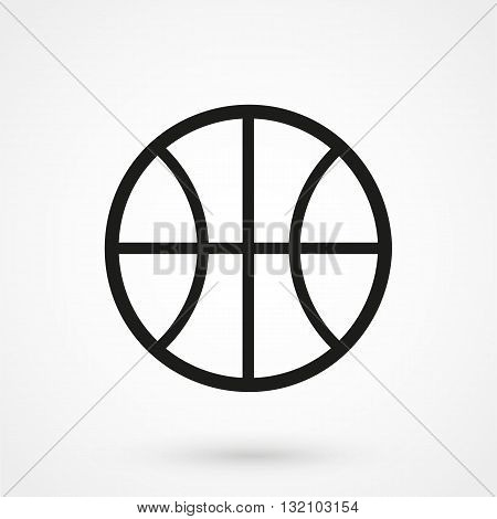 Basketball Icon Vector Black On White Background