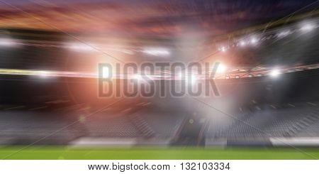 Football stadium in lights