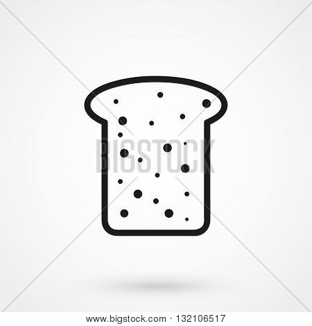 Bread Icon Vector Black On White Background