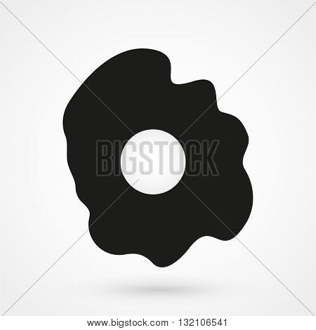 Omelet Icon Vector Black On White Background