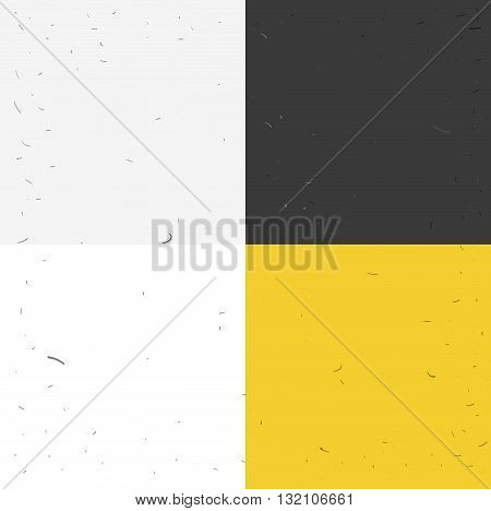 set of a vector grunge backgrounds with little scratches on surface. Flat design.