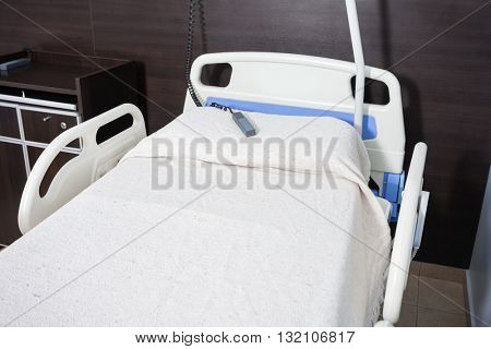 Nurse Call Bell On Bed In Rehabilitation Center