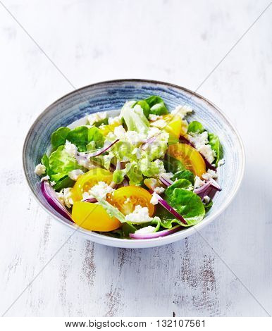 Yellow Tomato Salad with Feta