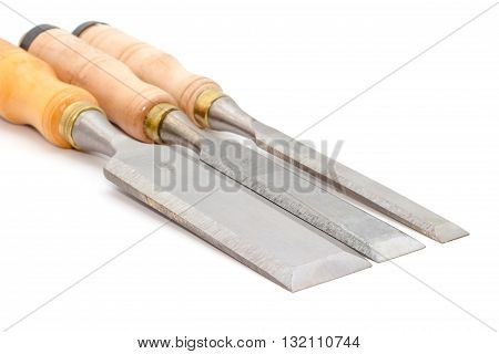 carpenter's chisel isolated on a white background