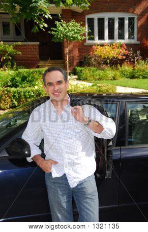 Man House Car
