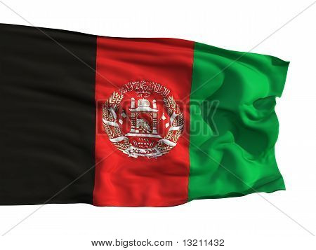 The Flag Of Afghanistan, Flying In The Wind