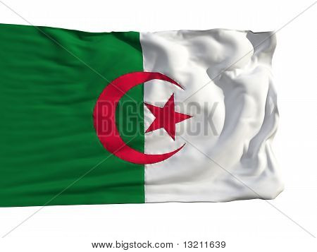 Flag Of Algeria, Fluttering In The Wind