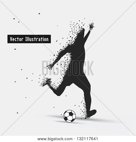 Football (Soccer), Vector eps10 illusration. Particle divergent composition