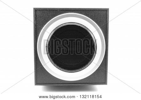 Acoustic speakers isolated on white background Acoustic speakers
