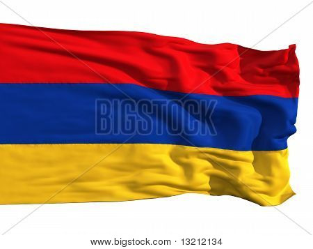 Armenian Flag, Fluttering In The Wind