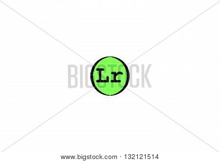 Lawrencium is a radioactive synthetic chemical element with the symbol Lr and atomic number 103. 3d illustration