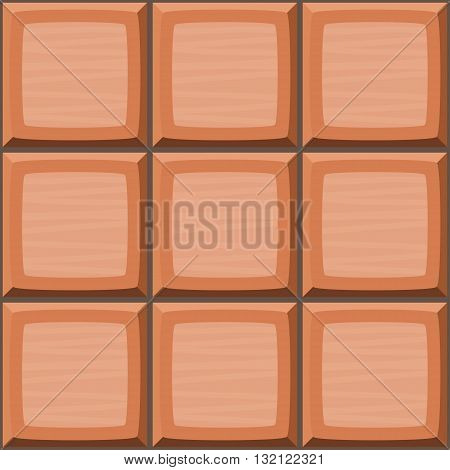 Cartoon Hand Drown Orange Seamless Decorative Tiles Texture. Vector Illustration